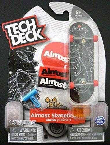 Tech Deck 2018 Almost Skateboards Series 7 - Youness Black Scorpion Finger Skateboard (ULTRA RARE CHASE!)