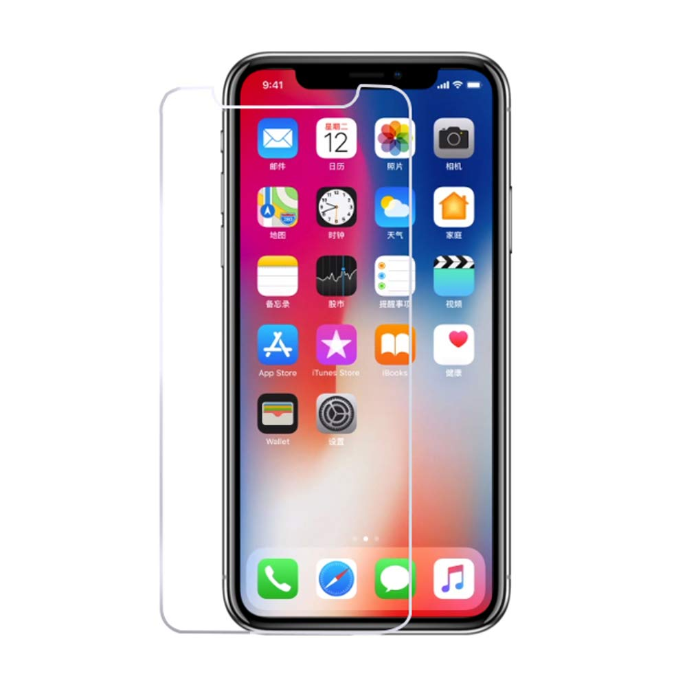 Screen Protector for iPhone X Mobile Phone, Anti-Finger Print, Anti-Scratch, Explosion Proof Screen Protector 2.5D 9H Phone