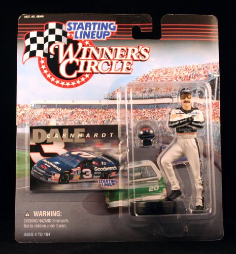 DALE EARNHARDT / GOODWRENCH 1998 Winner's Circle Starting Line NASCAR Series Action Figure & Exclusive Collector Trading (Busch Truck Series)