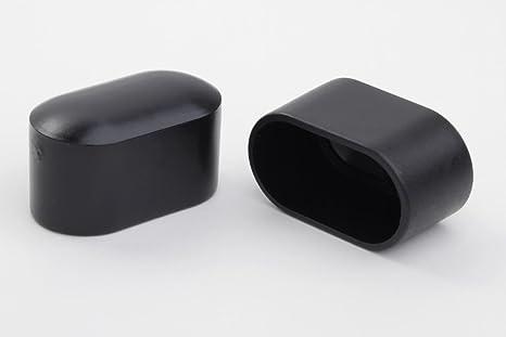 Taco protector para patas de silla (4 unidades, 38 x 20 mm, plástico), color negro