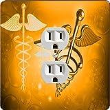 Rikki Knight 8867 Outlet Orange Medical Doctor Symbol Design Outlet Plate