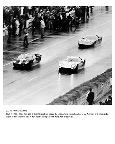 1966 Ford GT40 Mark II-A at LeMans Automobile Photo Poster from AutoLit
