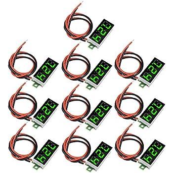 """10PCS 0.28/"""" DC Digital Voltmeter Panel Mount LED Voltage Volt Meter Red 2.5-30V"""