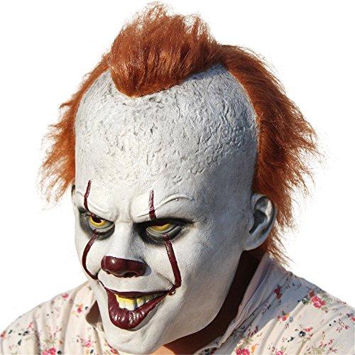 Halloween Joker Mask Clown Cosplay Costume Pennywise Cosplay The Latex Clown (Clown Mouth Halloween Makeup)