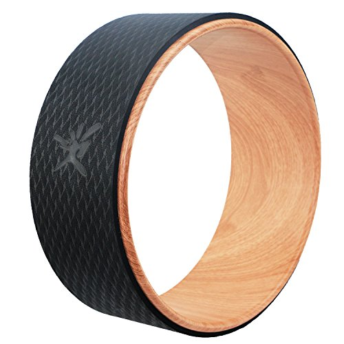 Risefit Dharma Yoga Prop Wheel for Yoga Poses, Wood