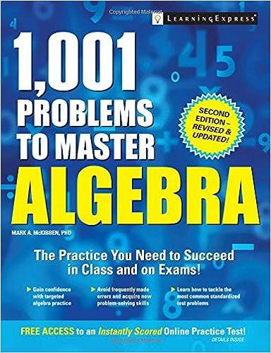 1, 001 Problems to Master Algebra: Mark A., PhD McKibben ...