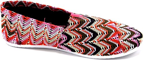 Vrouwen Multie Kleur Lage Sneakers Sneakers Canvas Slip Op De Zomer Strand Platte Mode Schoenen ...