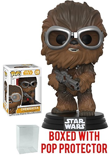 Funko Pop  Star Wars  Solo   Chewbacca Vinyl Figure  Bundled With Pop Box Protector Case