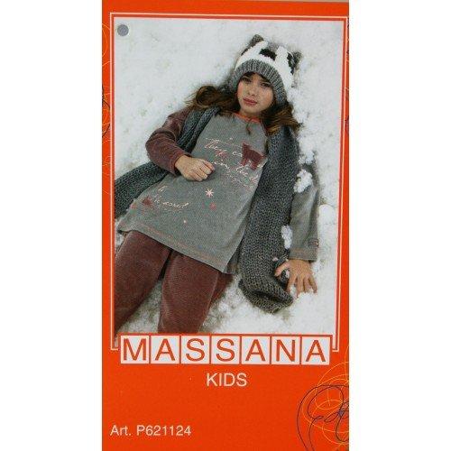 CAL FUSTER - Pijama Massana de Invierno Niña Talla 10: Amazon.es: Ropa y accesorios