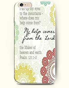 iPhone 6 Case,OOFIT iPhone 6 (4.7) Hard Case **NEW** Case with the Design of I lift up MY EYES to the mountains-where does my help come from?My help comes from the Lord,the Maker of heaven and earth Psalm 121:1-2 - Case for Apple iPhone iPhone 6 (4.7) (2014) Verizon, AT&T Sprint, T-mobile