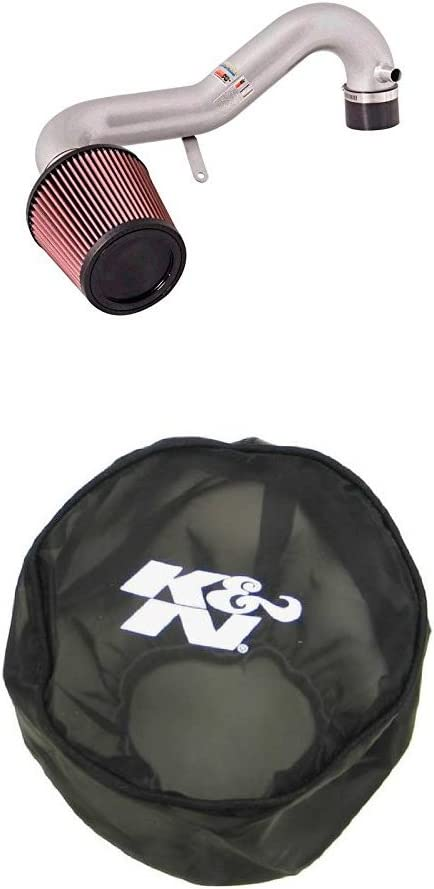 K/&N 69-1008TS Performance Air Intake System with Black Air Filter Wrap