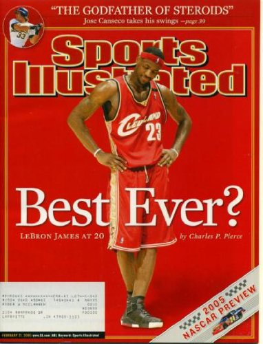 Sports Illustrated February 21, 2005 LeBron James, Jose Canseco, Nascar Preview, Nextel Cup, Andrew Bogut/Utah