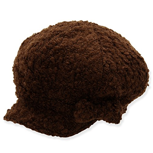 womens-and-teens-wool-blend-newsboy-cap-with-detachable-bow-trim-b-brown
