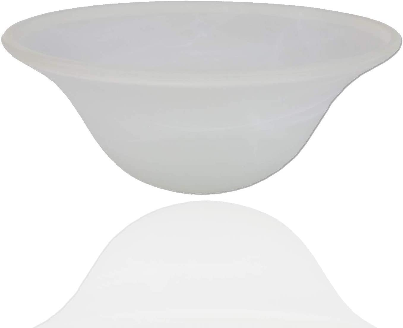 Alabaster White Glass Lamp Shade Replacement for Floor Lamp - Lamp Shade fro Floor Lamps - Glass Lamp Shade - Floor Lamp Shade - Light Fixture Replacement Glass (White Marble)