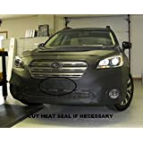 Car Mask Bra Fits Lebra 2 piece Front End Cover Black 2013-2014 Subaru Outback with wheel well moldings