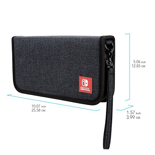 Nintendo Switch Starter Kit with Travel Case, Screen Protector, Joy Con Guards and Earbuds by PDP