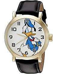Disney Donald Duck Mens W002332 Donald Duck Watch with Black Band