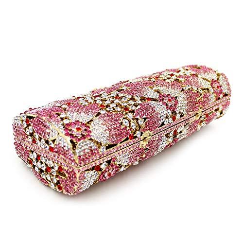 Cristal Femmes Sacs Rose sac Pour Métal Cristal Soirée Soirée De Fleur Soirée Sacs Strass Strass Strass à De En Cristal De Sac En main QZTG En Sacs CgnqqX