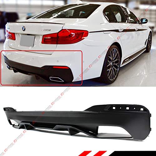 Perofrmance Style Primer Matt Black Perofmrnace Style Rear Bumper Diffuser Valance Fits for 2017-2020 BMW G30 530i 540i 530e W/M Sport Bumper