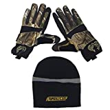 Ironclad Gloves with FREE bonus winter cap, Realtree AP Camo Cold Condition, Warm Breathable Water and Wind Resistant, Heavy Duty Durable, Comfortable - LARGE