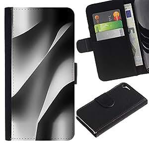 For Apple iPhone 5 / iPhone 5S,S-type® Building Architecture Paper Engineering - Dibujo PU billetera de cuero Funda Case Caso de la piel de la bolsa protectora