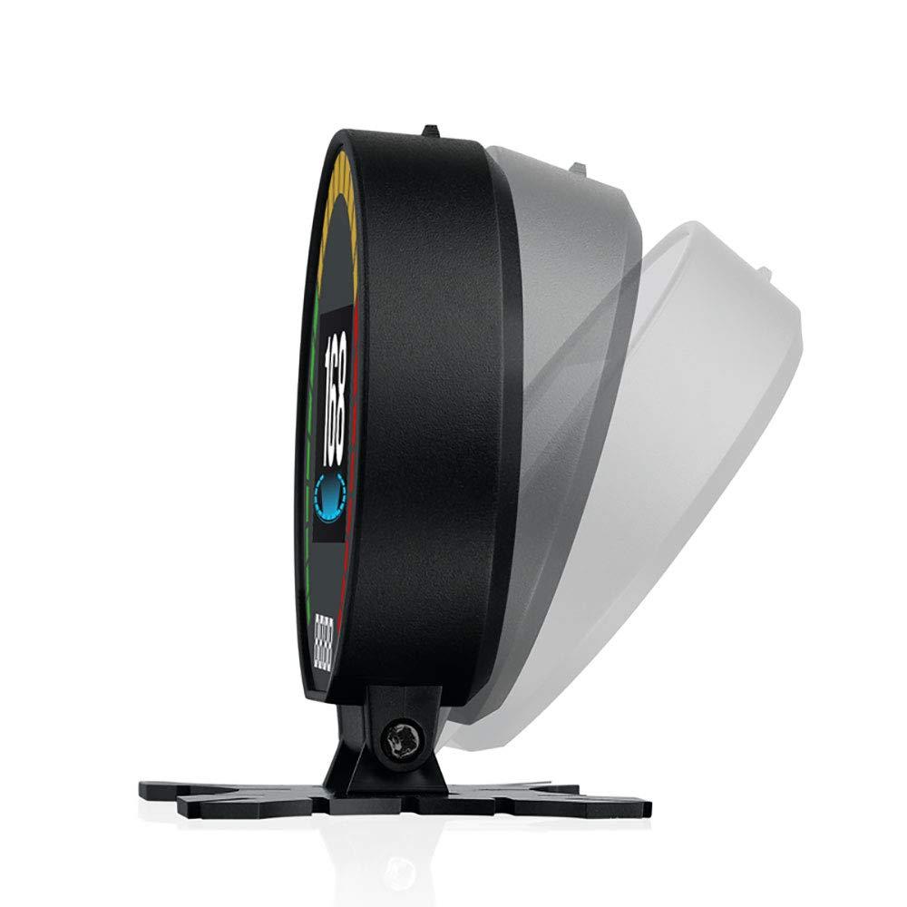 2.6 HUD GPS Head UP Display Digital LCD-Messger/ät 9V-16V Fahrgeschwindigkeit Spannung Einzelentfernung Fahrstrecke Gesamtfahrzeit Fahrgeschwindigkeitsalarm Umschaltung zwischen Kilometer und Meilen./ Swonuk