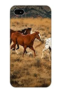 Awesome Design Animal Horse Hard Case Cover For Iphone 4/4s(gift For Lovers)