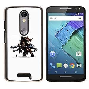 """Be-Star Único Patrón Plástico Duro Fundas Cover Cubre Hard Case Cover Para Motorola Droid Turbo 2 / Moto X Force ( Cartoon Figurita 3D Monster Carácter Hombre Duo"""" )"""