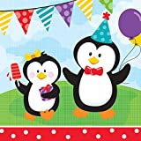 Creative Converting 18 Count Lunch Napkins, Penguin Party