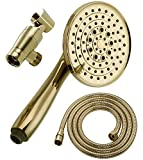 Luxury High Pressure 5' Face 6 Setting Detachable Handheld Shower Head with Extra Long Flexible...