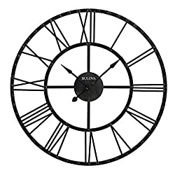 Bulova C4820 Carmen Wall Clock, Black