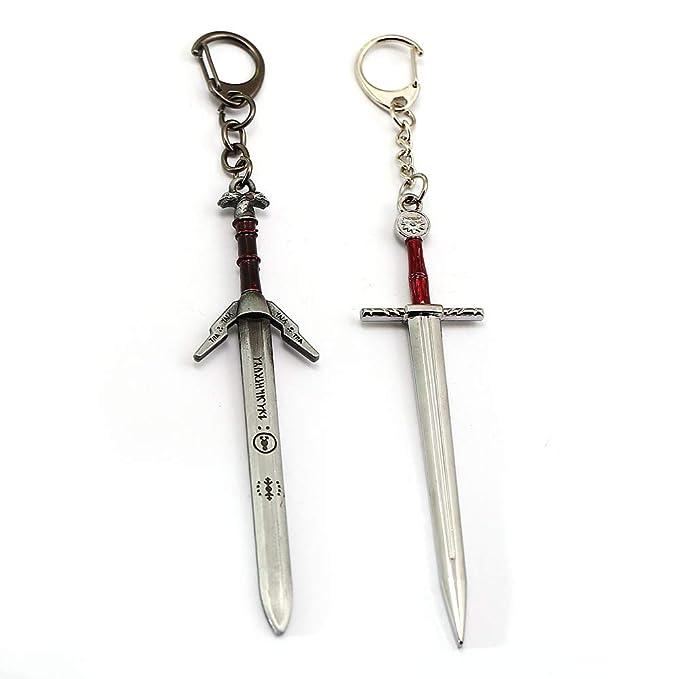 MINTUAN The Witcher 3 Llavero Geralt Sword Modelo de Juguete ...