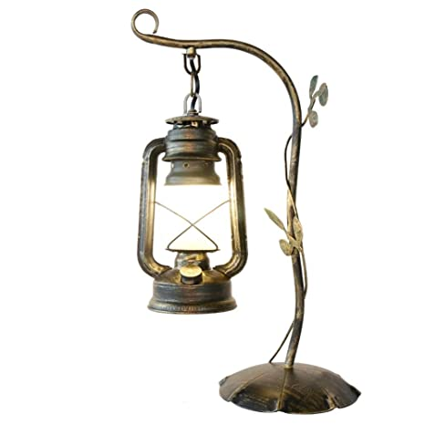 Rustic Wrought Iron Table Lamps.Amazon Com Desk Lamp Rustic Vintage Frosted Glass Shade