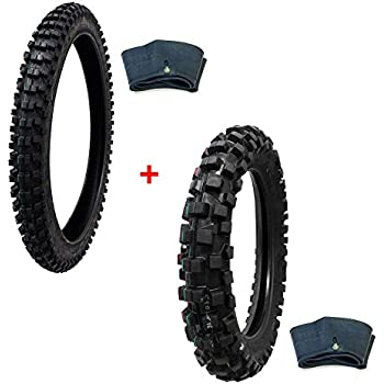 Compare Tire Sizes >> Mmg Tire Set Off Road Knobby Front Tire Size 80 100 21 Includes Inner Tube Rear Tire Size 110 100 18 With Inner Tube