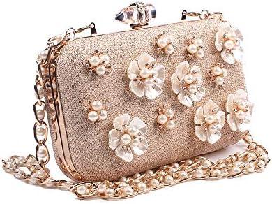 ハンドバッグ - 新しい真珠の花のマーメイドパッケージは、ダイヤモンドのイブニングバッグ、イブニングバッグの花びら、花嫁保持手キャリーハンドバッグの財布を鳴らし よくできた