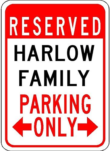 Metal Signs Harlow Family Parking - Customized Last Name - 8