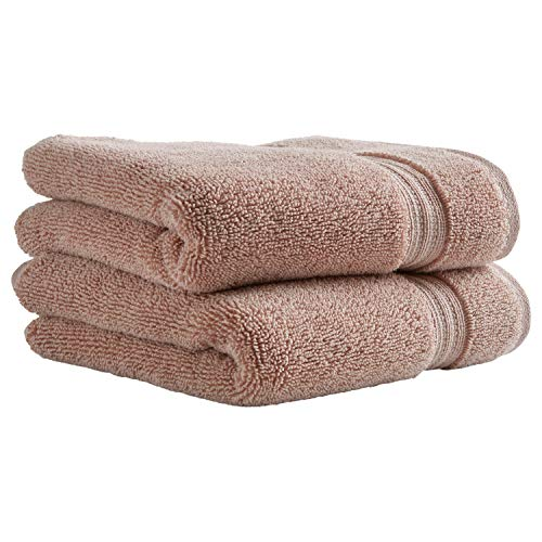 Stone & Beam Classic Egyptian Cotton Hand Towel Set, 2-Pack, Rose