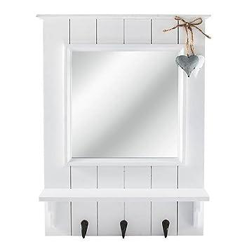 Amazon.de: Schlüsselbrett mit Spiegel Schlüsselboard Spiegelboard ...