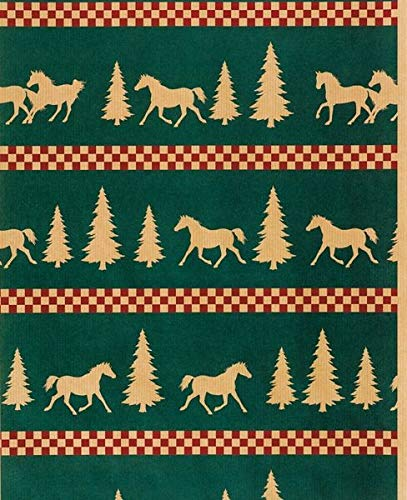 Horseshoe Gift Packaging Forest Frolic Holiday Horse Wrapping ()