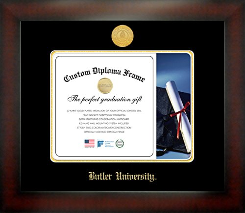 Butler University 8½ x 11 Mahogany Finish Infinity Diploma Frame by Celebration Frames