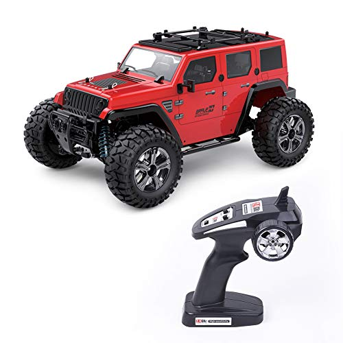 (dezirZJjx RC Truck Toy, Remote Control Trucks, 2.4G 1/14 Remote Control High Speed Off-Road Truck RC Car Children Toy Gift Red)