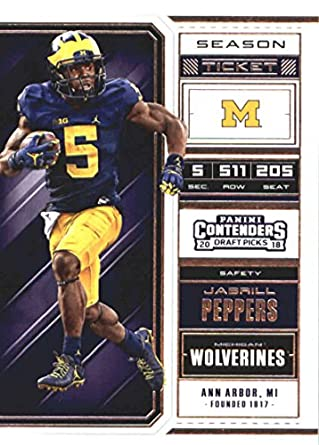 finest selection 70986 ee753 Amazon.com: 2018 Panini Contenders Draft Picks Season Ticket ...