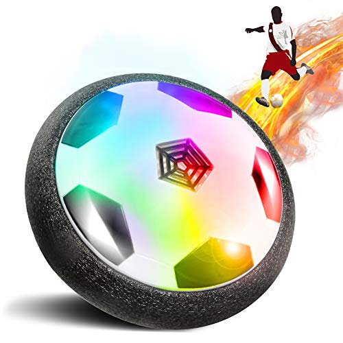 ThinkMax Hover Soccer Ball for Kids Gift, Air Power Dick with LED Light and Foam Bumpers, Indoor Games for 3 4 5 6 7 8 11 12 13 14 Years Old Boys and Girls Gift