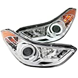 Anzo 121455 Chrome/Clear/Amber Halogen Projector Headligh...