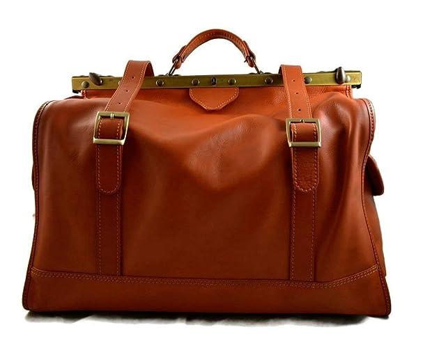 8656f65c3 Bolso de viaje de cuero doctor bag bolso doctor en piel bandolera de cuero  bolso de