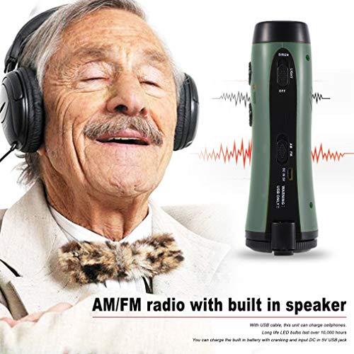 Bangcool Muiti-Functional Dynamo Flashlight AM/FM Radio Emergency Siren with 5 LEDs