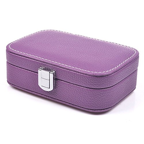 KLOUD City Jewelry Box Organizer Display Storage Case for Travel Home Use (Purple)