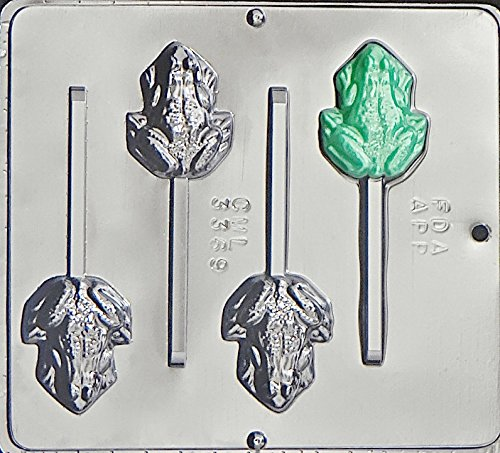 Frog Lollipop Chocolate Candy Mold 3369
