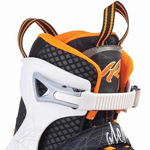 K2 Damen Inline Skates Alexis 80 - Schwarz-Weiß-Orange - EU