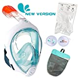 ME MARTIAN ELITE Tribord/Subea Easybreath (2019 Version) Full Face Snorkel Mask with Camera Mount, Enhanced Anti-Fog and Anti-Leak (Aa/Vert Turquoise, S/M)/#!!